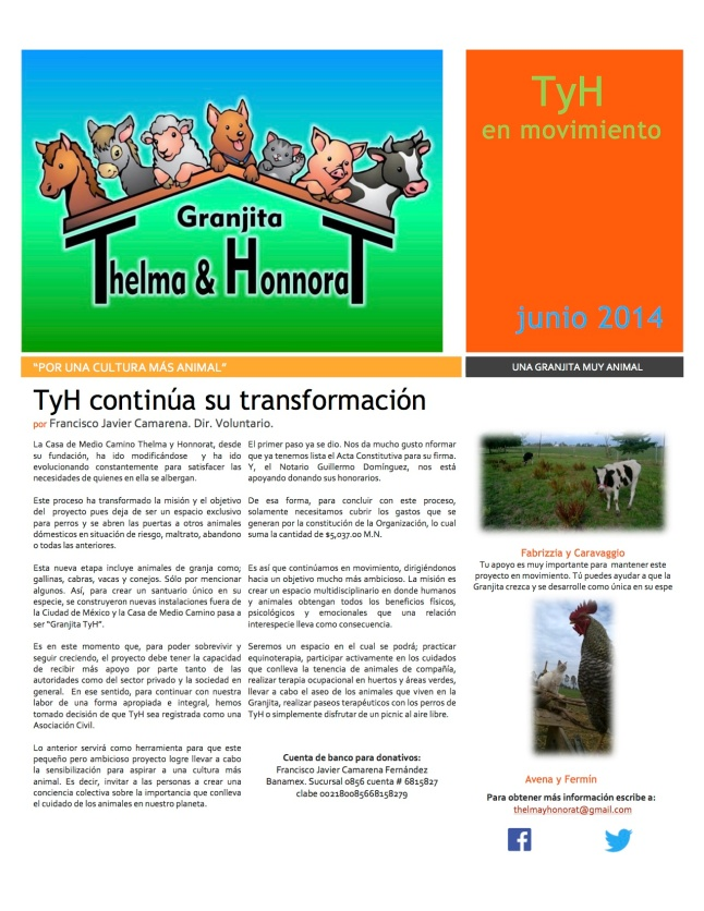 Newsletter Granjita TyH junio 2014 V.3 copia