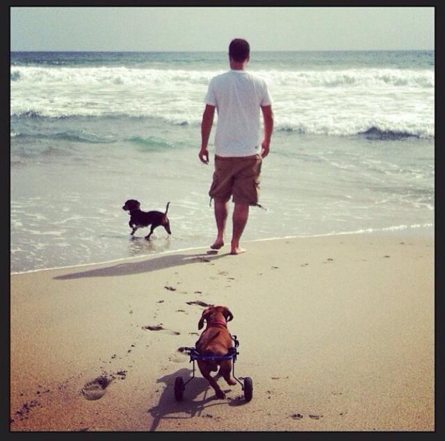 Barbarito y Tomasa en la playa