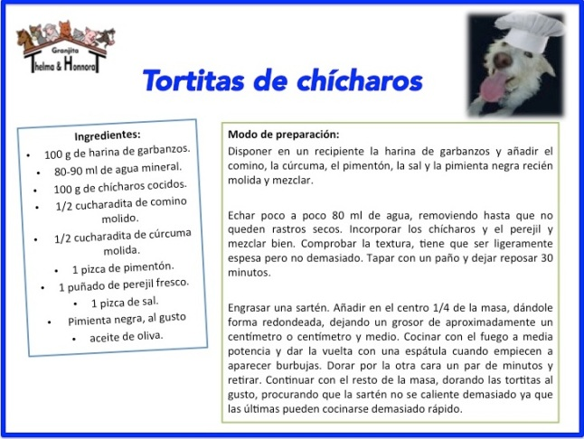 tortitas de chícharos